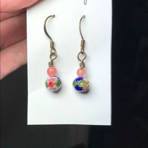 Jewelry - 3/$10 or 5/$15 Glass earrings with flower artwork.
